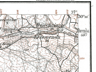 Reduced fragment of topographic map de--kdr--100k--D40--(1914)--N050-30_fE036-30--N050-15_fE037-00; towns and cities Katowice, Sosnowiec, Tarnowskie Gory, Myslowice, Siemianowice Slaskie