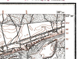 Reduced fragment of topographic map de--kdr--100k--G32--(1918)--N052-30_fE038-00--N052-15_fE038-30; towns and cities Nowy Dwor Mazowiecki