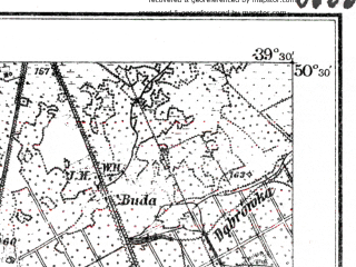 Reduced fragment of topographic map de--kdr--100k--J40--(1915)--N050-30_fE039-00--N050-15_fE039-30; towns and cities Mielec, Nowa Deba
