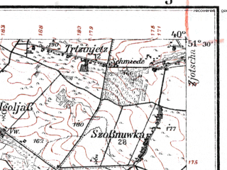 Reduced fragment of topographic map de--kdr--100k--K36--(1915)--N051-30_fE039-30--N051-15_fE040-00; towns and cities Pulawy, Kazimierz Dolny, Naleczow
