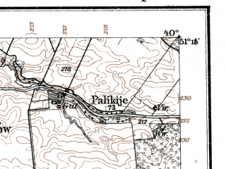 Reduced fragment of topographic map de--kdr--100k--K37--(1915)--N051-15_fE039-30--N051-00_fE040-00; towns and cities Opole Lubelskie, Poniatowa