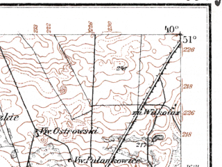 Reduced fragment of topographic map de--kdr--100k--K38--(1915)--N051-00_fE039-30--N050-45_fE040-00; towns and cities Krasnik, Zaklikow