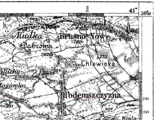 Reduced fragment of topographic map de--kdr--100k--M41--(1917)--N050-15_fE040-30--N050-00_fE041-00; towns and cities Lubaczow, Drogomyshl', Nagachev