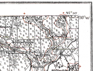 Reduced fragment of topographic map de--kdr--100k--N15--(1914)--N056-45_fE041-00--N056-30_fE041-30; towns and cities Yelgava