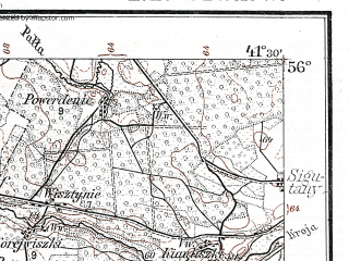 Reduced fragment of topographic map de--kdr--100k--N18--(1914)--N056-00_fE041-00--N055-45_fE041-30; towns and cities Radvilishkis, Sheduva