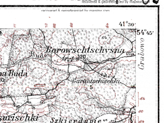 Reduced fragment of topographic map de--kdr--100k--N23--(1914)--N054-45_fE041-00--N054-30_fE041-30; towns and cities Mariampole, Zariskiai