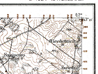 Reduced fragment of topographic map de--kdr--100k--O29--(1915)--N053-15_fE041-30--N053-00_fE042-00; towns and cities Bol'shaya Berestovitsa, Svisloch'