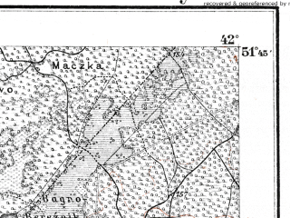 Reduced fragment of topographic map de--kdr--100k--O35--(1914)--N051-45_fE041-30--N051-30_fE042-00; towns and cities Zabolot'ye, Guta, Krymno, Tur