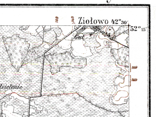 Reduced fragment of topographic map de--kdr--100k--P33--(1914)--N052-15_fE042-00--N052-00_fE042-30; towns and cities Kobrin, Antopol', Vorotynichi