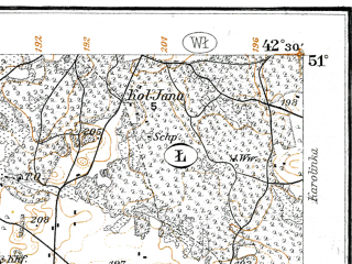 Reduced fragment of topographic map de--kdr--100k--P38--(1914)--N051-00_fE042-00--N050-45_fE042-30; towns and cities Kupichev, Ovadnoye, Zaturtsy