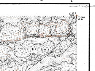 Reduced fragment of topographic map de--kdr--100k--Q34--(1914)--N052-00_fE042-30--N051-45_fE043-00; towns and cities Borki, Gorki, Malaya Glusha