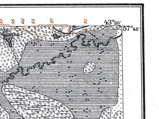 Reduced fragment of topographic map de--kdr--100k--R11--(1922)--N057-45_fE043-00--N057-30_fE043-30; towns and cities Valmiyera, Seda, Strenchi, Trikata
