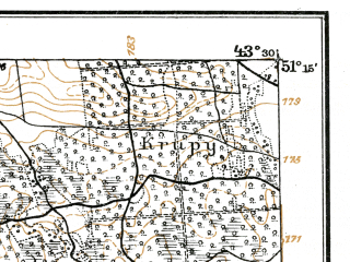 Reduced fragment of topographic map de--kdr--100k--R37--(1917)--N051-15_fE043-00--N051-00_fE043-30; towns and cities Starosel'ye, Borovichi, Chetvertnya