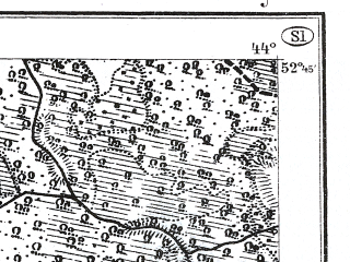Reduced fragment of topographic map de--kdr--100k--S31--(1914)--N052-45_fE043-30--N052-30_fE044-00; towns and cities Telekhany