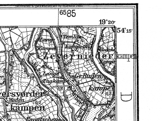 Reduced fragment of topographic map de--kdr4--100k--027--(1936)--N054-15_E018-20--N053-45_E019-20; towns and cities Tczew, Starogard Gdanski, Malbork, Sztum, Gniew