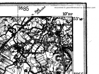 Reduced fragment of topographic map de--kdr4--100k--033--(1939)--N053-45_E009-20--N053-15_E010-20; towns and cities Hamburg, Norderstedt, Wedel Holstein, Ahrensburg, Winsen