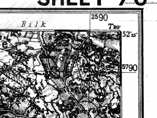 Reduced fragment of topographic map de--kdr4--100k--070--(1933)--N052-15_E006-20--N051-45_E007-20; towns and cities Enschede, Bocholt, Borken, Coesfeld, Dulmen