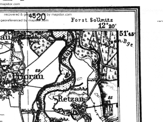 Reduced fragment of topographic map de--kdr4--100k--087--(1936)--N051-45_E011-20--N051-15_E012-20 in area of Susser See; towns and cities Halle, Eisleben, Hettstedt, Merseburg, Querfurt
