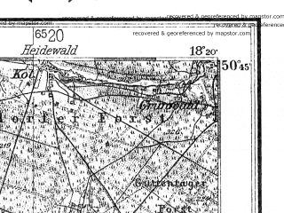 Reduced fragment of topographic map de--kdr4--100k--117--(1943)--N050-45_E017-20--N050-15_E018-20; towns and cities Opole, Nysa, Prudnik, Strzelce Opolskie, Krapkowice