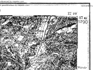 Reduced fragment of topographic map de--kdr4--100k--159--(1937)--N047-45_E011-20--N047-15_E012-20 in area of Tegernsee, Achensee; towns and cities Innsbruck, Kufstein, Worgl, Jenbach, Solbad Hall