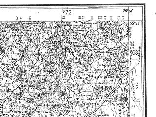 Reduced fragment of topographic map de--kdr4--100k--325--(1940)--N055-15_E025-20--N054-45_E026-20; towns and cities Nemenchine, Shvenchenelyay, Shvenchenis, Lyntupy, Mikhalishki