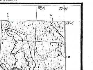 Reduced fragment of topographic map de--kdr4--100k--337--(1940)--N053-45_E025-20--N053-15_E026-20; towns and cities Novogrudok, Berezovka, Dyatlovo, Molchad, Noviny