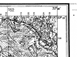 Reduced fragment of topographic map de--kdr4--100k--340--(1941)--N053-15_E020-20--N052-45_E021-20; towns and cities Ciechanow, Mlawa, Przasnysz, Makow Mazowiecki, Golymin