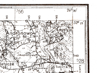 Reduced fragment of topographic map de--kdr4--100k--360--(1940)--N052-15_E023-20--N051-45_E024-20; towns and cities Brest, Zhabinka, Malorita, Stradech, Terespol