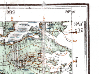 Reduced fragment of topographic map de--kdr4--100k--362--(1941)--N052-15_E025-20--N051-45_E026-20; towns and cities Pinsk, Pererub, Dol'sk, Duboy