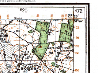 Reduced fragment of topographic map de--kdr4--100k--367--(1040)--N051-45_E021-20--N051-15_E022-20; towns and cities Pulawy, Pionki, Deblin, Kozienice, Ryki
