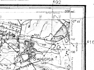 Reduced fragment of topographic map de--kdr4--100k--376--(1939)--N051-15_E022-20--N050-45_E023-20; towns and cities Lublin, Swidnik, Krasnystaw, Wysokie