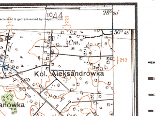 Reduced fragment of topographic map de--kdr4--100k--388a--(1941)--N050-45_E027-20--N050-15_E028-20; towns and cities Novograd-volynskiy, Baranovka, Dovbysh, Andreyevichi, Kamennyy Brod