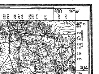 Reduced fragment of topographic map de--kdr4--100k--389--(1941)--N050-15_E019-20--N049-45_E020-20; towns and cities Krakow, Nowa Huta, Skawina, Trzebinia, Myslenice