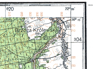 Reduced fragment of topographic map de--kdr4--100k--391--(1940)--N050-15_E021-20--N049-45_E022-20; towns and cities Rzeszow, Debica, Lancut, Strzyzow, Kolbuszowa