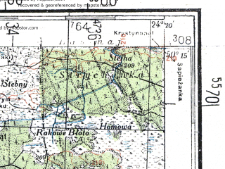 Reduced fragment of topographic map de--kdr4--100k--393--(1944)--N050-15_E023-20--N049-45_E024-20; towns and cities L'vov, Gorodok, Yavorov, Nesterov, Rava-russkaya