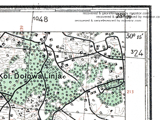 Reduced fragment of topographic map de--kdr4--100k--396a--(1941)--N050-15_E027-20--N049-45_E028-20; towns and cities Polonnoye, Lyubar, Poninka, Chudnov, Pershotravensk