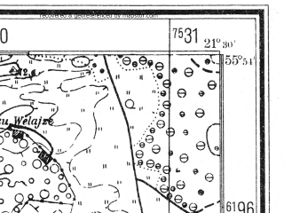 Reduced fragment of topographic map de--mb--025k--01_094--(1940)--N055-54_E021-20--N055-48_E021-30