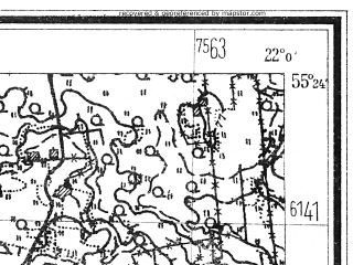 Reduced fragment of topographic map de--mb--025k--06_097--(1940)--N055-24_E021-50--N055-18_E022-00