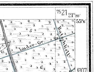 Reduced fragment of topographic map de--mb--025k--09_093--(1933)--N055-06_E021-10--N055-00_E021-20