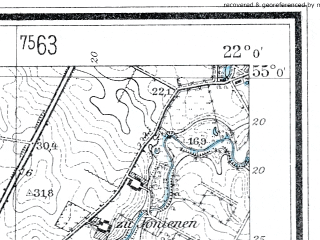 Reduced fragment of topographic map de--mb--025k--10_097--(1937)--N055-00_E021-50--N054-54_E022-00
