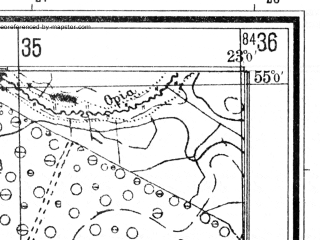 Reduced fragment of topographic map de--mb--025k--10_103--(1940)--N055-00_E022-50--N054-54_E023-00