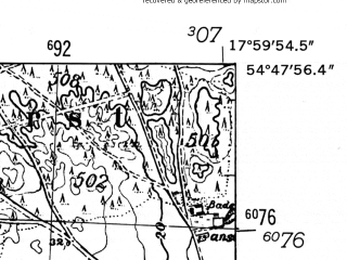 Reduced fragment of topographic map de--mb--025k--12_073-ams--(1952)--N054-48_E017-50--N054-42_E018-00