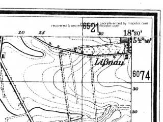 Reduced fragment of topographic map de--mb--025k--12_075--(1942)--N054-48_E018-10--N054-42_E018-20