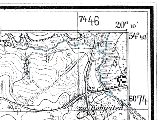 Reduced fragment of topographic map de--mb--025k--12_086--(1936)--N054-48_E020-00--N054-42_E020-10; towns and cities Primorsk