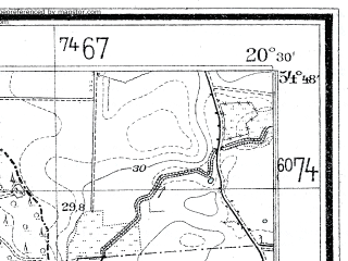 Reduced fragment of topographic map de--mb--025k--12_088--(1937)--N054-48_E020-20--N054-42_E020-30