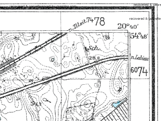 Reduced fragment of topographic map de--mb--025k--12_089--(1936)--N054-48_E020-30--N054-42_E020-40; towns and cities Kaliningrad, Gur'yevsk