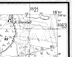 Reduced fragment of topographic map de--mb--025k--13_075--(1940)--N054-42_E018-10--N054-36_E018-20; towns and cities Wejherowo