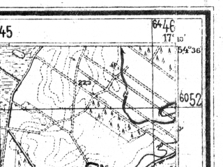 Reduced fragment of topographic map de--mb--025k--14_068--(1944)--N054-36_E017-00--N054-30_E017-10