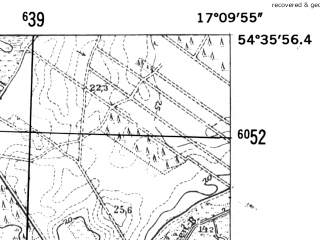 Reduced fragment of topographic map de--mb--025k--14_068-ams--(1952)--N054-36_E017-00--N054-30_E017-10