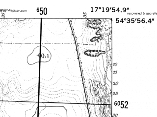 Reduced fragment of topographic map de--mb--025k--14_069-ams--(1952)--N054-36_E017-10--N054-30_E017-20